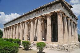 tempel ruine op de akropolis
